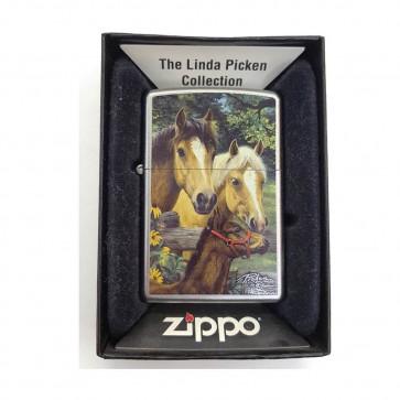 Mechero Zippo Caballos y potro Linda Picken