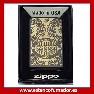 MECHERO ZIPPO SCROLL BLACK