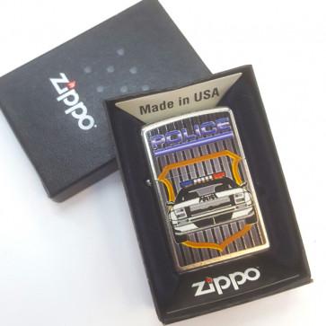 Mechero Zippo coche policía