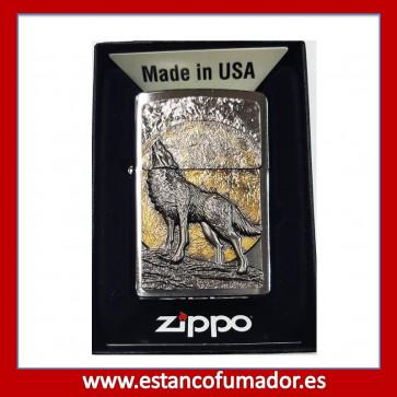 MECHERO ZIPPO WOLF AT MOONLIGHT