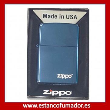 MECHERO ZIPPO R. BLUE MATTE LOGO