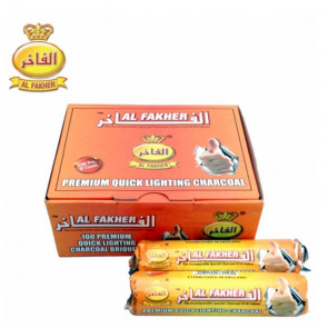 CAJA con 10 Carbón para shisha Al Fakher 33 mm