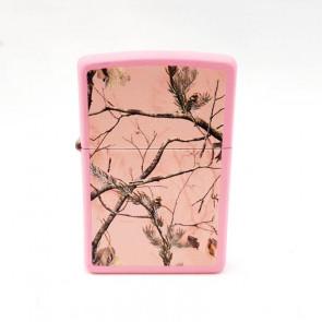 Mechero Zippo rosa con ramas