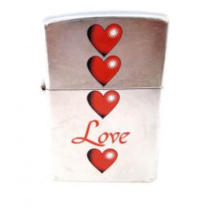 Mechero Zippo love corazones