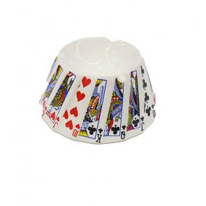 Cenicero de agua porcelana cartas poker