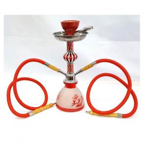 Shisha roja 2  bocas