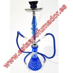 Shisha azul 2 bocas 55 cm