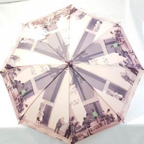 Paraguas grande rosa hidro repelente