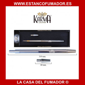 BOQUILLA  ALUMINIO KARMA 31 CM PLATEADA