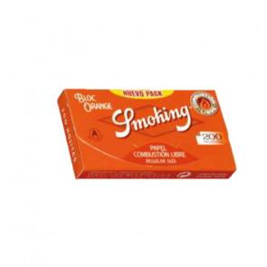 Caja con 20 uds. de Papel  De  Fumar Smoking 200 Naranja