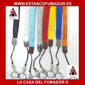 COLGANTE PARA CIGARRILLO ELECTRÓNICO AMARILLO CON CRISTAL