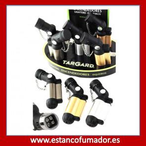 Encendedor Turbo Soplete 4 llamas Plateado