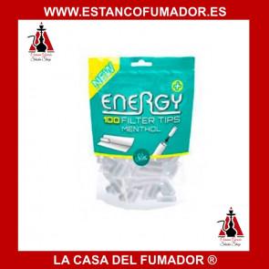 FILTRO ENERGY  MENTOLADO 5,9 X 15 mm , 100 FILTROS