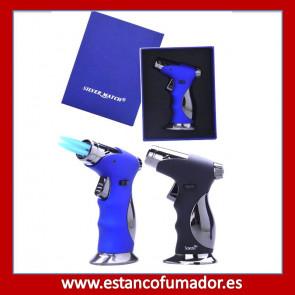 Encendedor Turbo Silver Match Azul