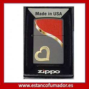 MECHERO ZIPPO HEART BANNER