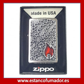 MECHERO ZIPPO FLAME WITH CHAINS RELIEVE