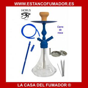 Shisha «HORUS» azul con 1 boquilla 45 CM
