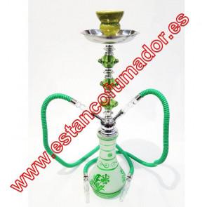 Shisha verde 2 bocas 55 cm