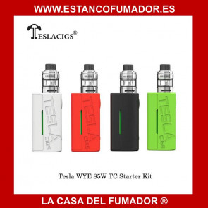 Tesla WYE 85W TC con H8 Mini Tank Kit ROJO