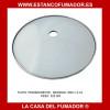 PLATO CENICERO PARA SHISHA DE CRISTAL TRANSPARENTE 20 X 3 CM